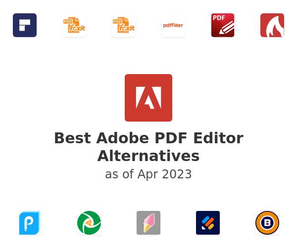 Best Adobe PDF Editor Alternatives