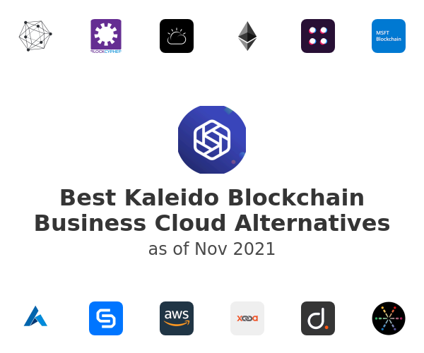 Best Kaleido Blockchain Business Cloud Alternatives