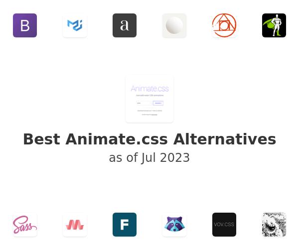 Best Animate.css Alternatives