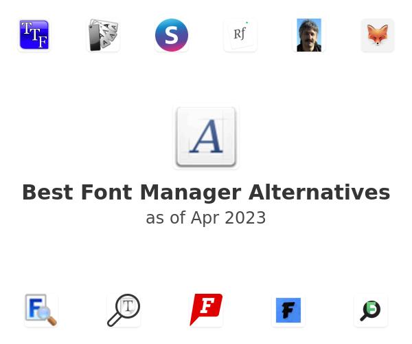 Best Font Manager Alternatives