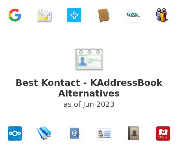 Best Kontact - KAddressBook Alternatives