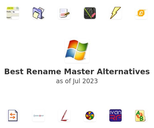Best Rename Master Alternatives