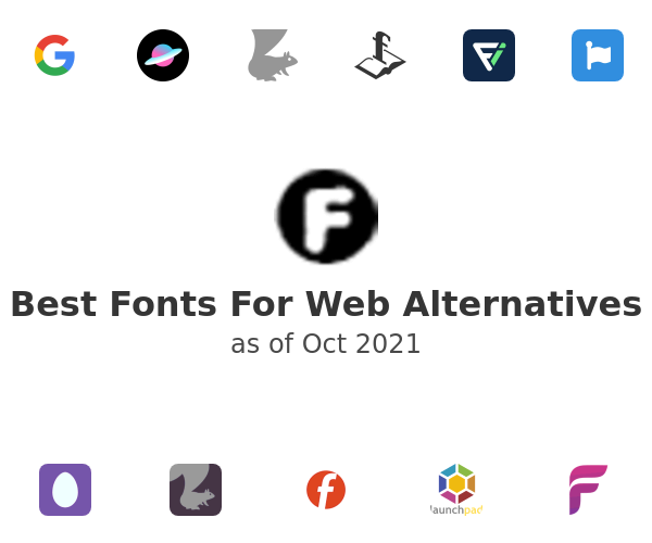 Best Fonts For Web Alternatives