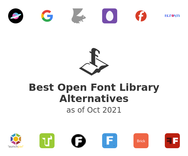Best Open Font Library Alternatives