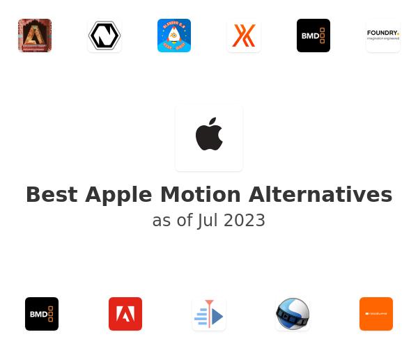 Best Apple Motion Alternatives