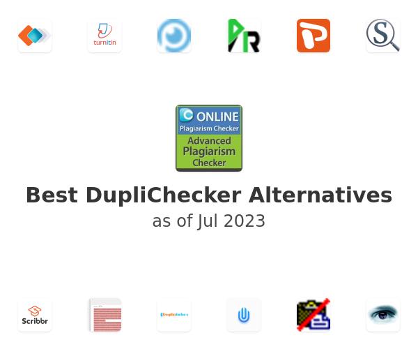Best DupliChecker Alternatives