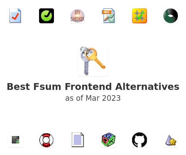 Best Fsum Frontend Alternatives
