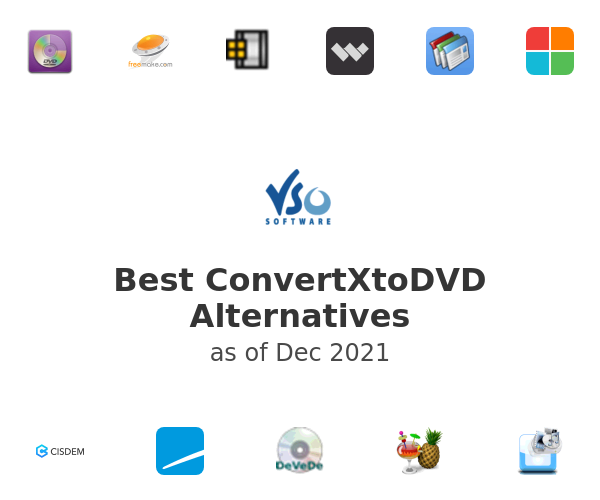 Best ConvertXtoDVD Alternatives