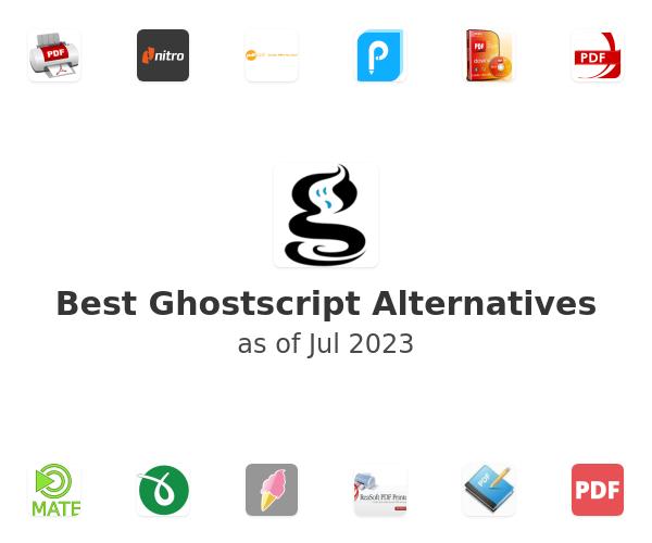 Best Ghostscript Alternatives