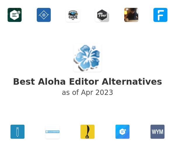 Best Aloha Editor Alternatives