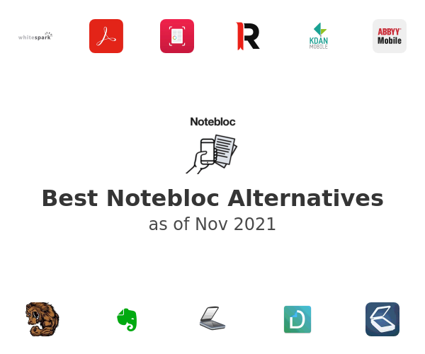 Best Notebloc Alternatives