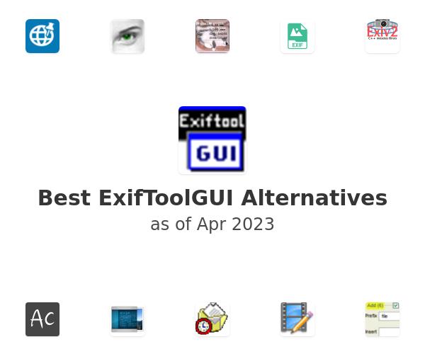 Best ExifToolGUI Alternatives