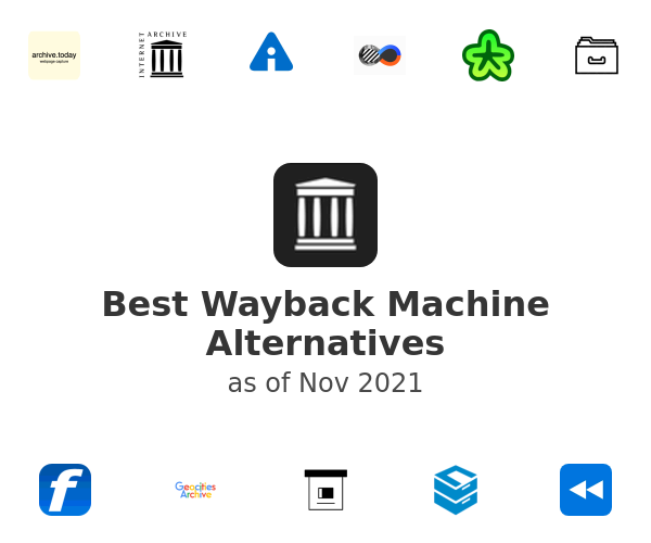 Best Wayback Machine Alternatives (2020)
