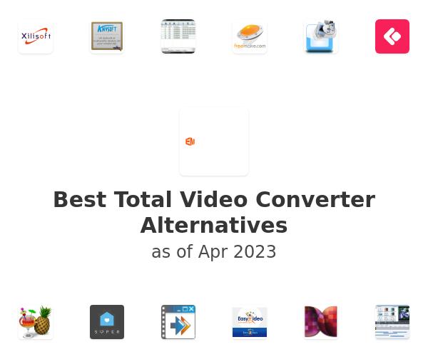 Best Total Video Converter Alternatives