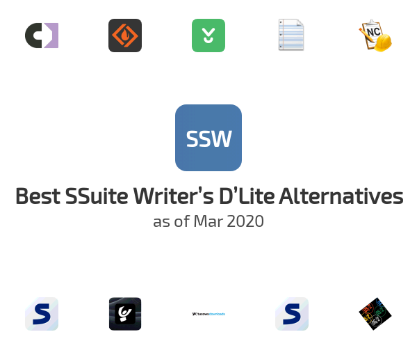 Best SSuite Writer's D'Lite Alternatives