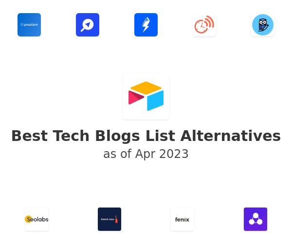 Best Tech Blogs List Alternatives