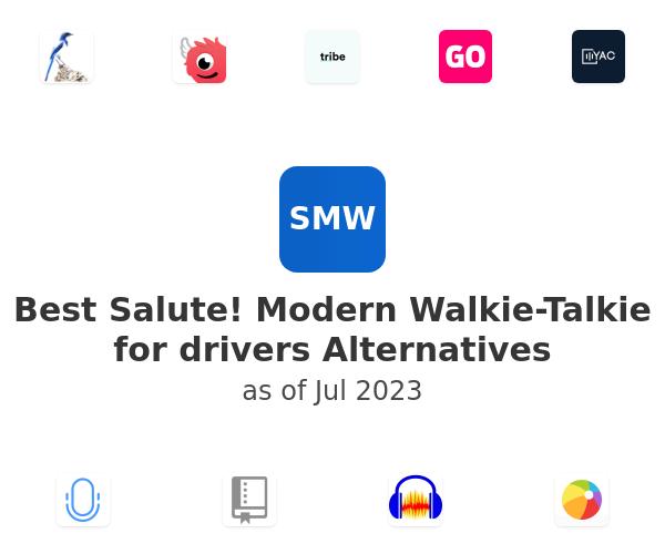 Best Salute! Modern Walkie-Talkie for drivers Alternatives