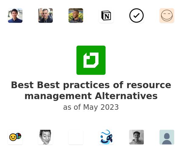 Best Best practices of resource management Alternatives
