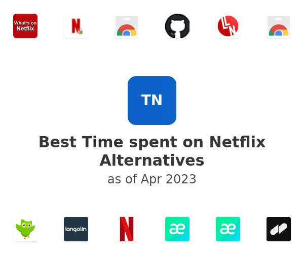 Best Time spent on Netflix Alternatives