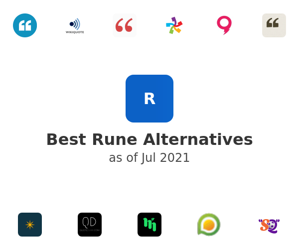 Best Rune Alternatives