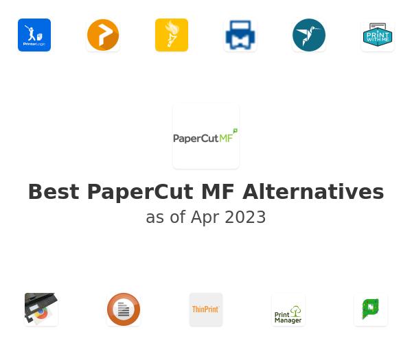 Best PaperCut MF Alternatives