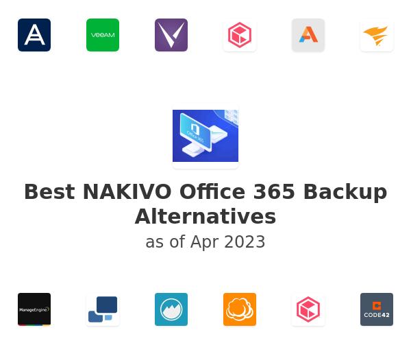 Best NAKIVO Office 365 Backup Alternatives