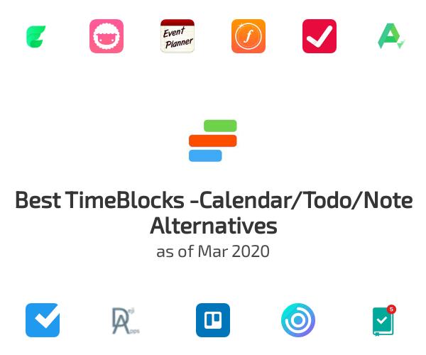 Best TimeBlocks -Calendar/Todo/Note Alternatives