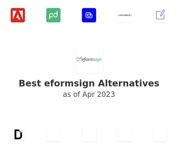 Best eformsign Alternatives
