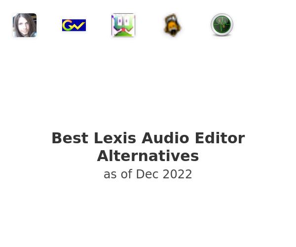 Best Lexis Audio Editor Alternatives