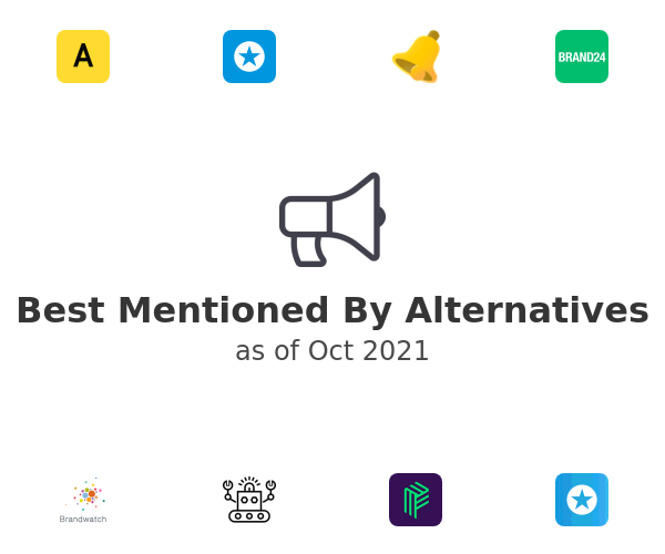 Best Mentioned By Alternatives