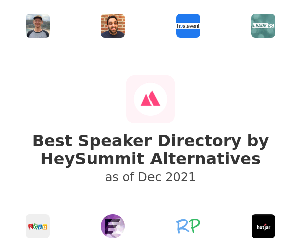 Best Speaker Directory by HeySummit Alternatives
