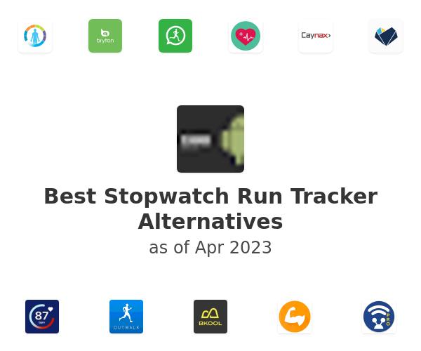 Best Stopwatch Run Tracker Alternatives