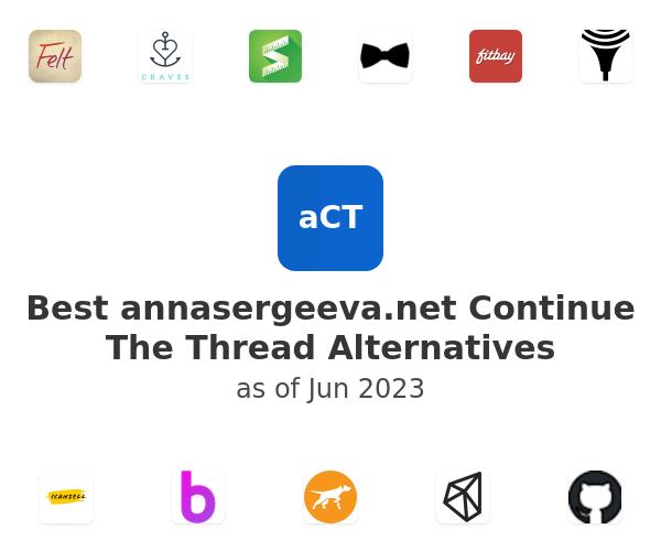 Best annasergeeva.net Continue The Thread Alternatives
