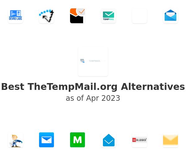Best TheTempMail.org Alternatives