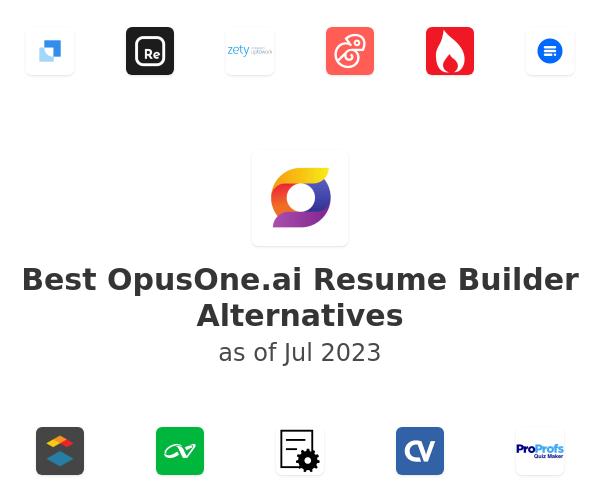 Best OpusOne.ai Resume Builder Alternatives