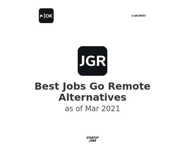 Best Jobs Go Remote Alternatives
