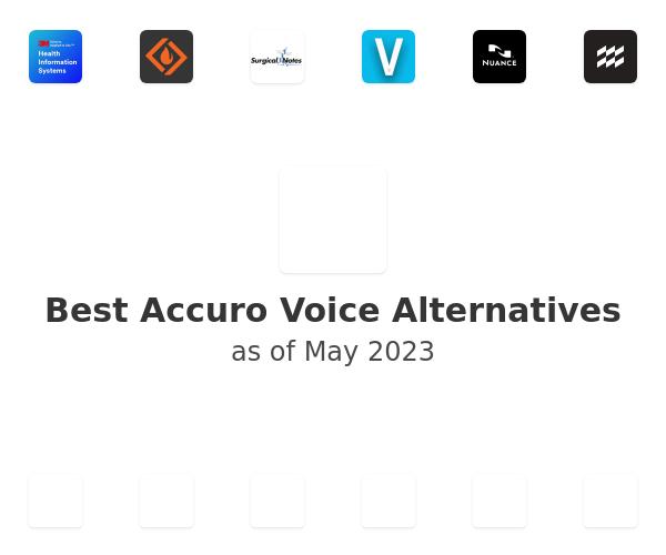 Best Accuro Voice Alternatives