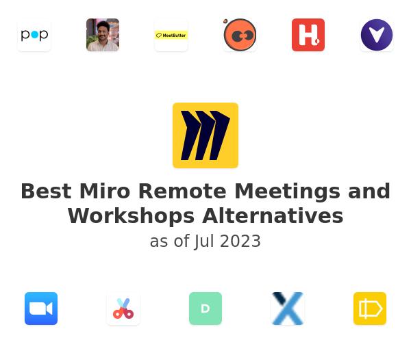 Best Miro Remote Meetings and Workshops Alternatives