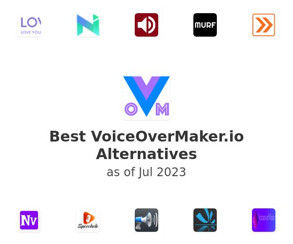 Best VoiceOverMaker Alternatives
