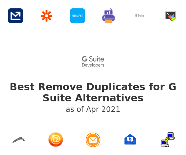 Best Remove Duplicates for G Suite Alternatives