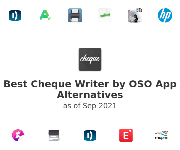 Best Cheque Writer by OSO App Alternatives