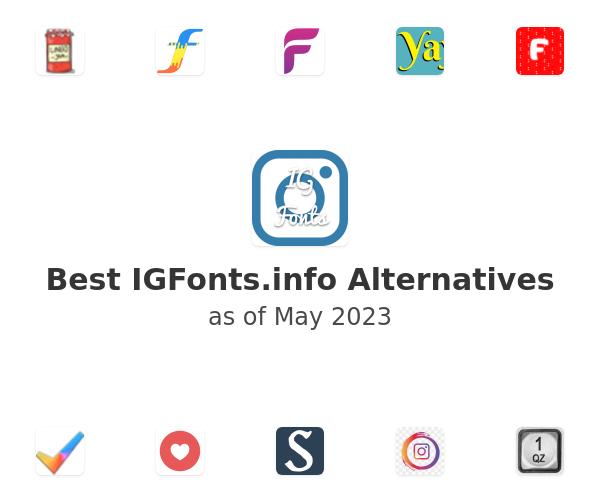 Best IGFonts.info Alternatives