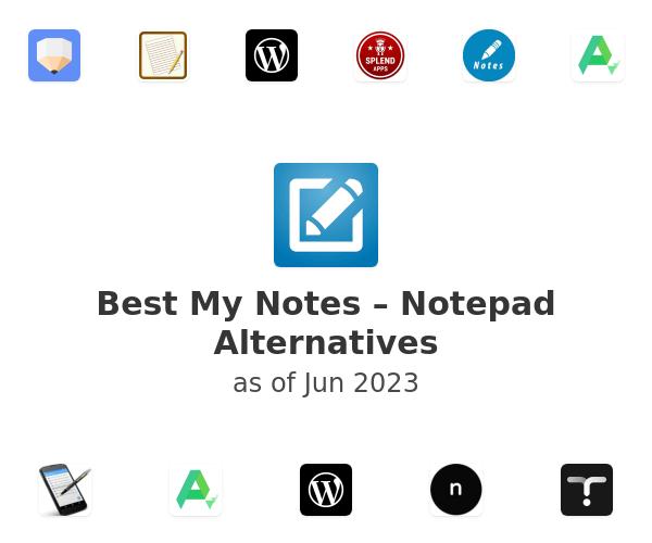Best My Notes – Notepad Alternatives