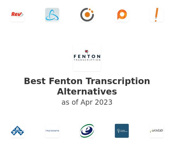 Best Fenton Transcription Alternatives