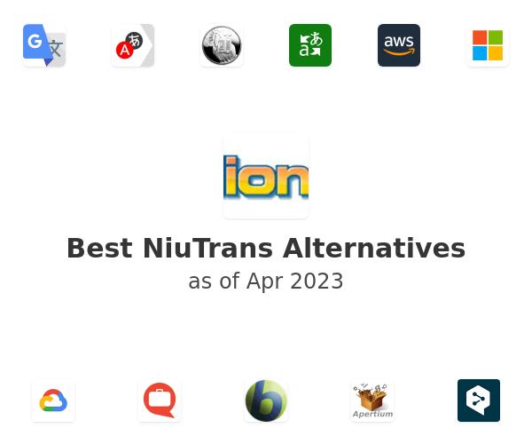 Best NiuTrans Alternatives