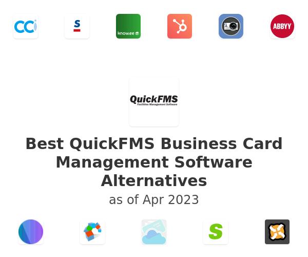 Best QuickFMS Business Card Management Software Alternatives
