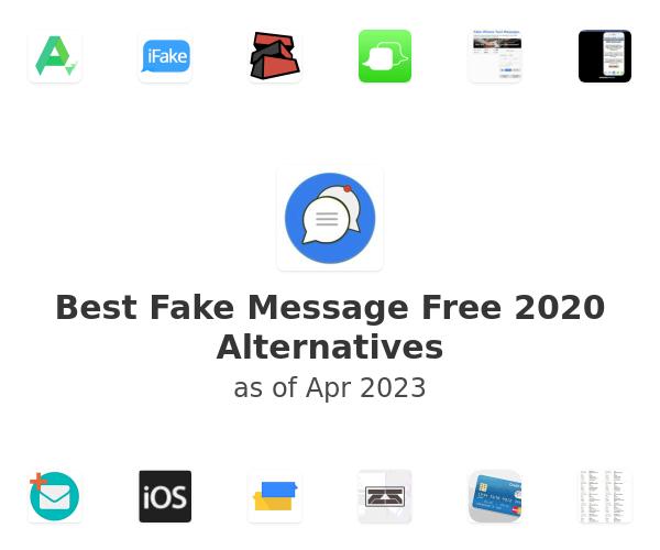 Best Fake Message Free 2020 Alternatives
