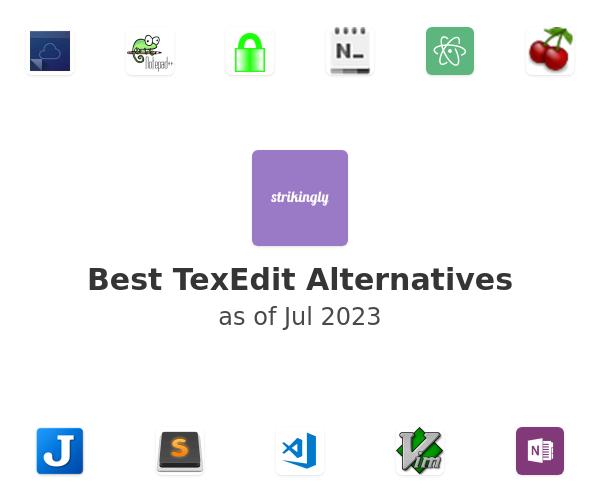 Best TexEdit Alternatives