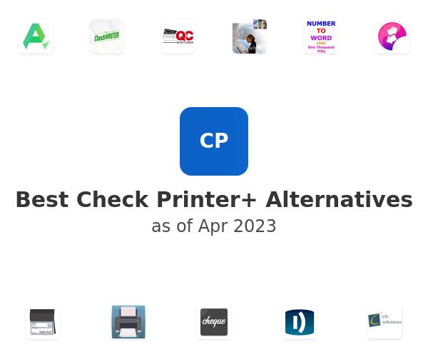 Best Check Printer+ Alternatives