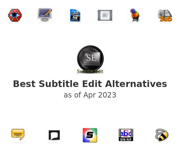Best Subtitle Edit Alternatives